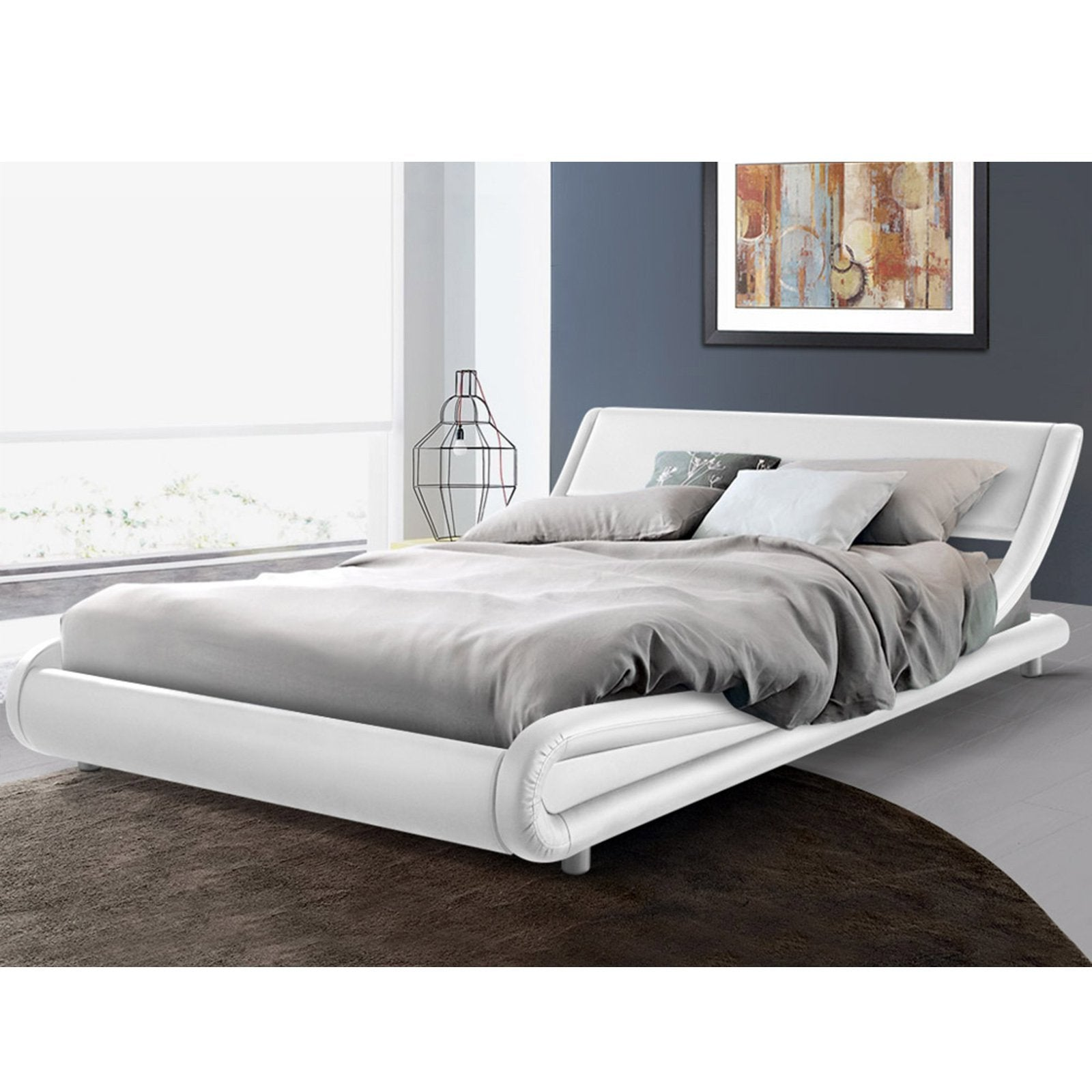 Florence White Queen Bed Frame – Interiors Domain