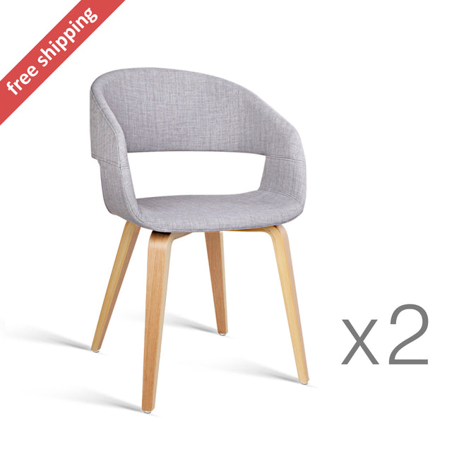 Grey Modern Dining Chairs   Set Of 2
