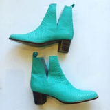 Nic cut out boot aqua
