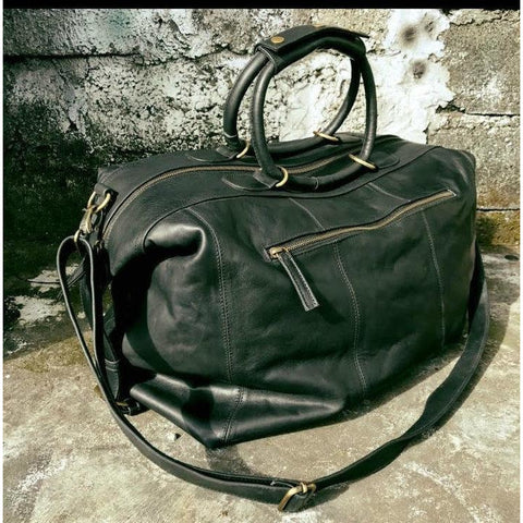 Wanderlust travel bag - black-Accessories-jfahristore