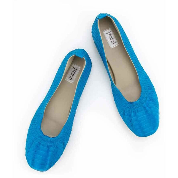 Jfahri Ballet Flats - Bright Blue-Shoes-jfahristore