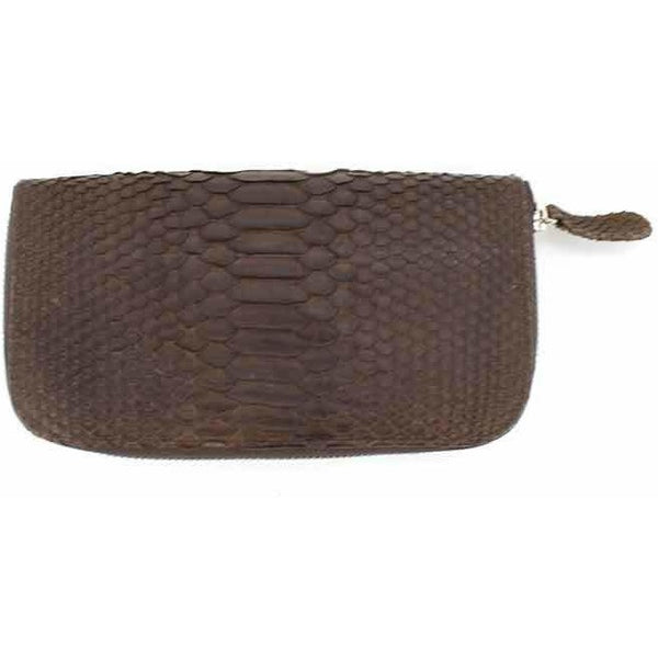 Chocolate Snakeskin Wallet