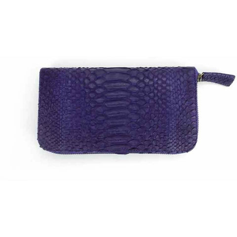 Deep Purple Snakeskin Wallet