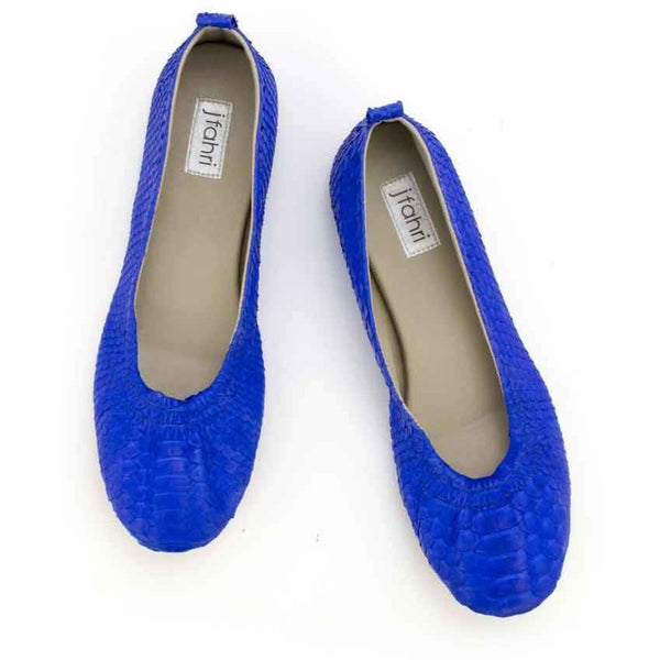 Jfahri Ballet Flats - Electric Blue-Shoes-jfahristore