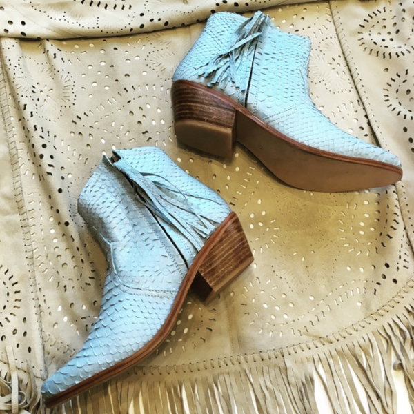 Jfahri tassel boot ice blue