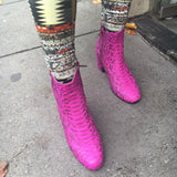 Sassy Boot - Neon Pink Snake Print-Shoes-jfahristore