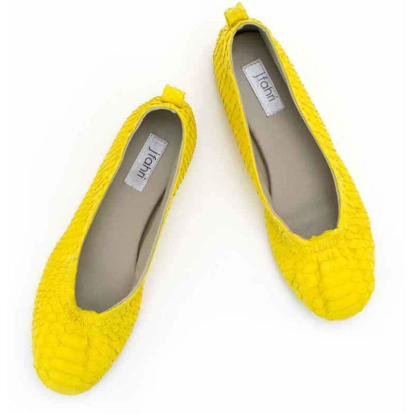 Jfahri Ballet Flats - Neon Yellow-Shoes-jfahristore