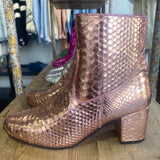 Sassy boot - Rose Gold metallic