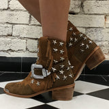 Elodie Cowgirl Boot - Tan-Shoes-jfahristore