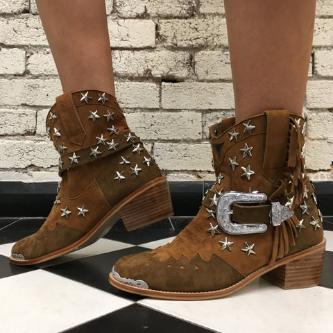 Elodie Cowgirl Boot - Tan