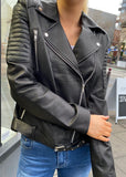 Brooklyn Leather Biker jacket - Black