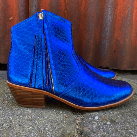 Jfahri boot - Metallic cobalt