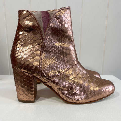 Joey boot - Rose Gold metallic