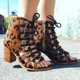 Gypsy Gladiator sandals - Leopard