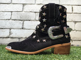 Elodie Cowgirl Boot - Black-Shoes-jfahristore