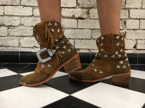 Elodie Boho Cowgirl Boot - Tan