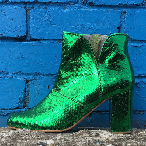 Joey Boot - Metallic Emerald Green-Shoes-jfahristore