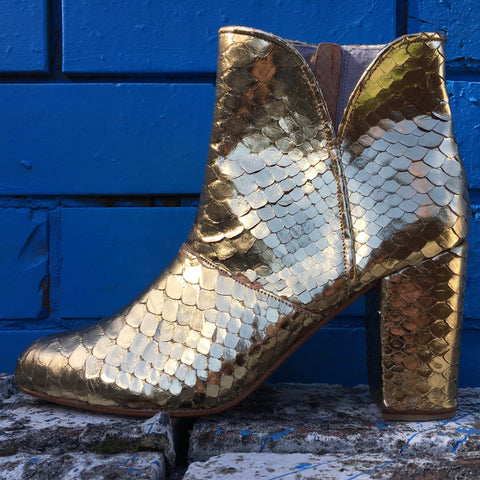 Joey Boot - Metallic Gold-Shoes-jfahristore
