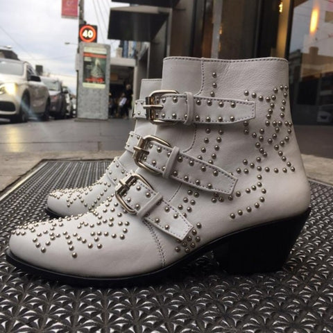 Soho Stud Boot - White