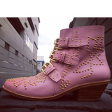 Soho stud boots - musk pink