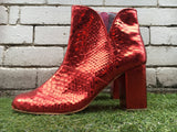 Joey Boot - Red metallic-Shoes-jfahristore