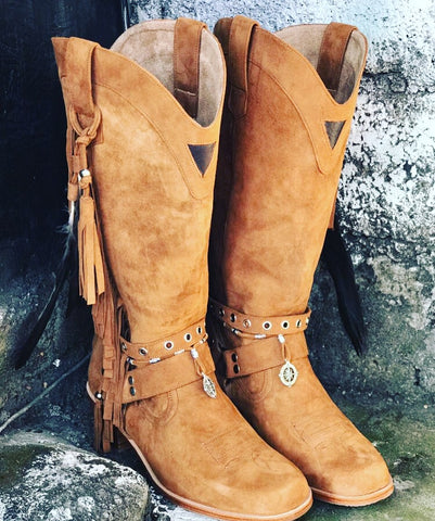 Joplin Suede Boot - Tan