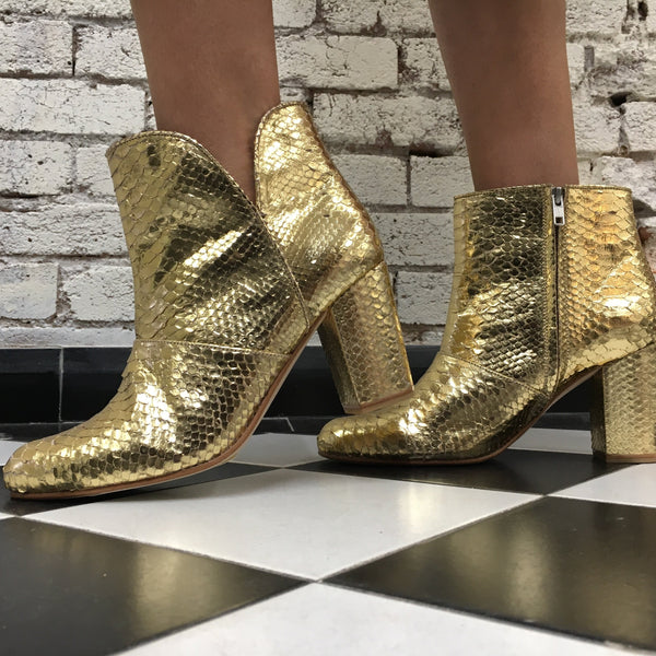 The Joey Metallic boots - Gold