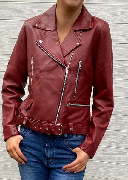 Griffin leather jacket - Red