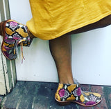 Jfahri mustard and pink multi - ankle boots