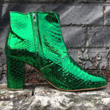 The Joey metallic boots - emerald green