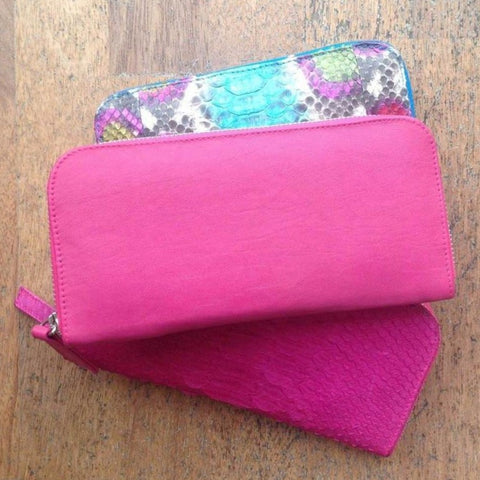 Jfahri Pink Leather Wallet-Accessories-jfahristore