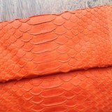 Jfahri Snakeskin Clutch - Neon Orange