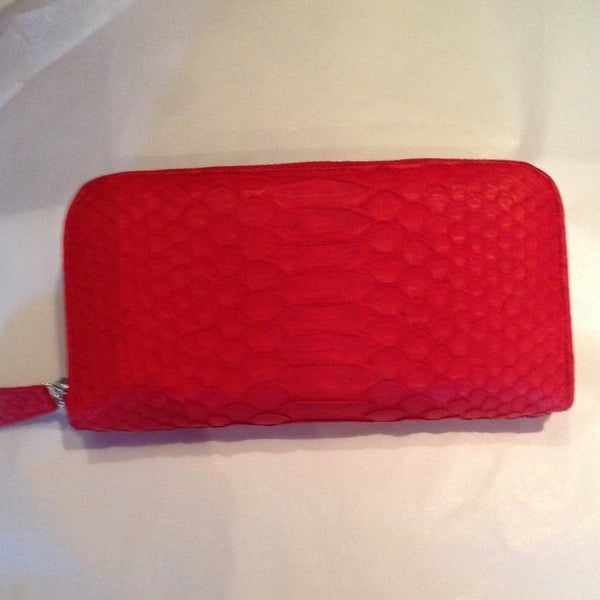 Ruby Red Snakeskin Wallet-Accessories-jfahristore