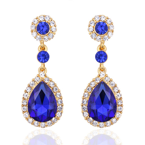 Hanging Classic Tear Drop Earrings Wedding Engagement Prom & Party
