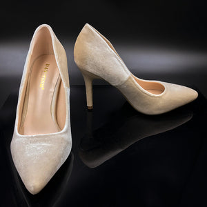 Velvet/Suede Touch Pointy Elegant High Heel Shoe