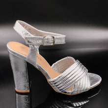 Block Heel Shoe With Strap