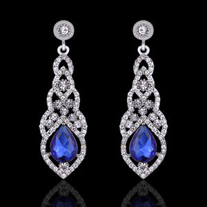 Crystal Drop Style Bridal & Party Earrings