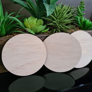 9cm Ply Wood Round Blanks x 25 pieces
