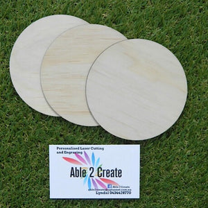 20cm Plywood Round Blanks x 50 pieces
