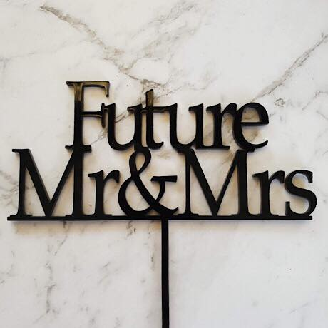 Future Mr & Mrs Cake Topper