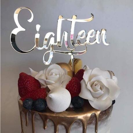Eighteen Cake Topper