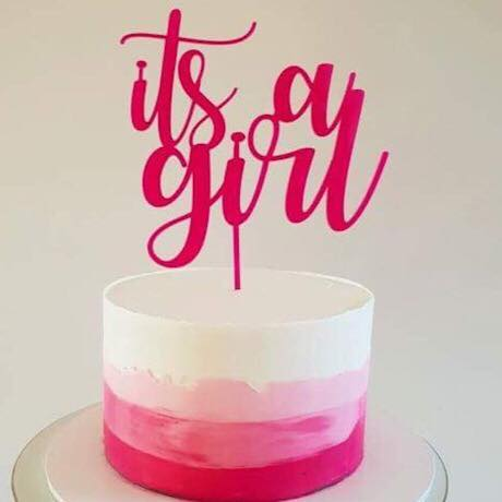 it's a Girl Cake Topper