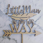 Little Man is on his Way Cake Topper