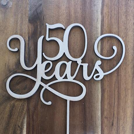 50 Years  Cake Topper