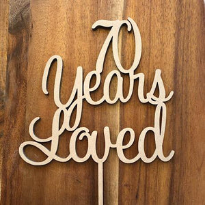 70 Years Loved Cake Topper