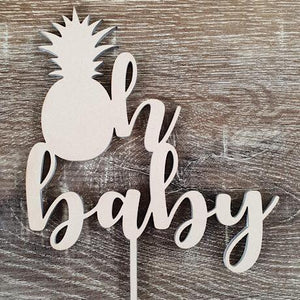 Pineapple Oh Baby Cake Topper