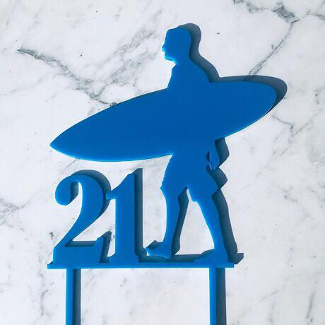 Surfer 21 (any age) Cake Topper