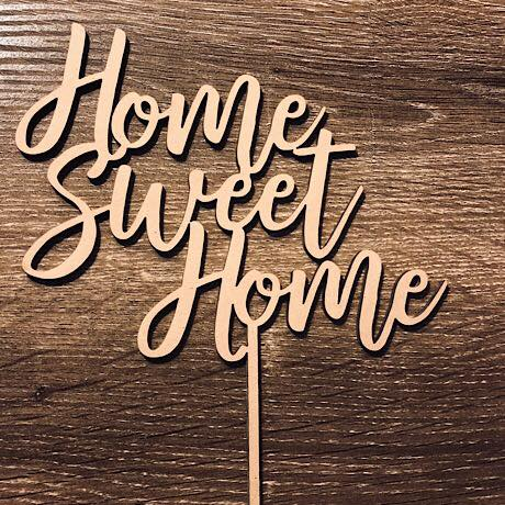 Home Sweet Home Cake Topper