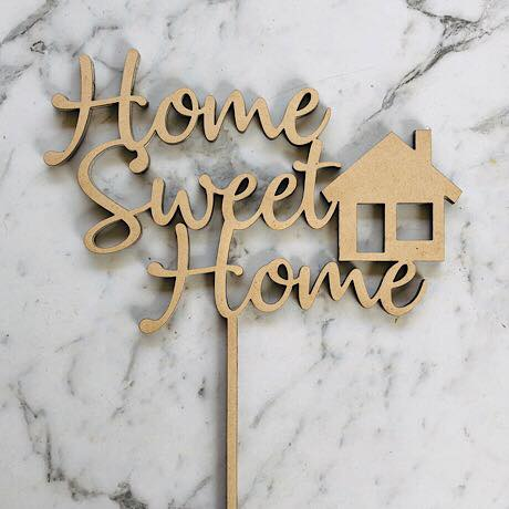 Home Sweet Home with House image Cake Topper