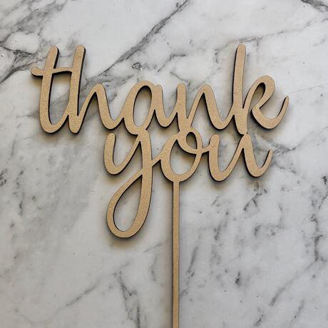 Thank You Cake Topper